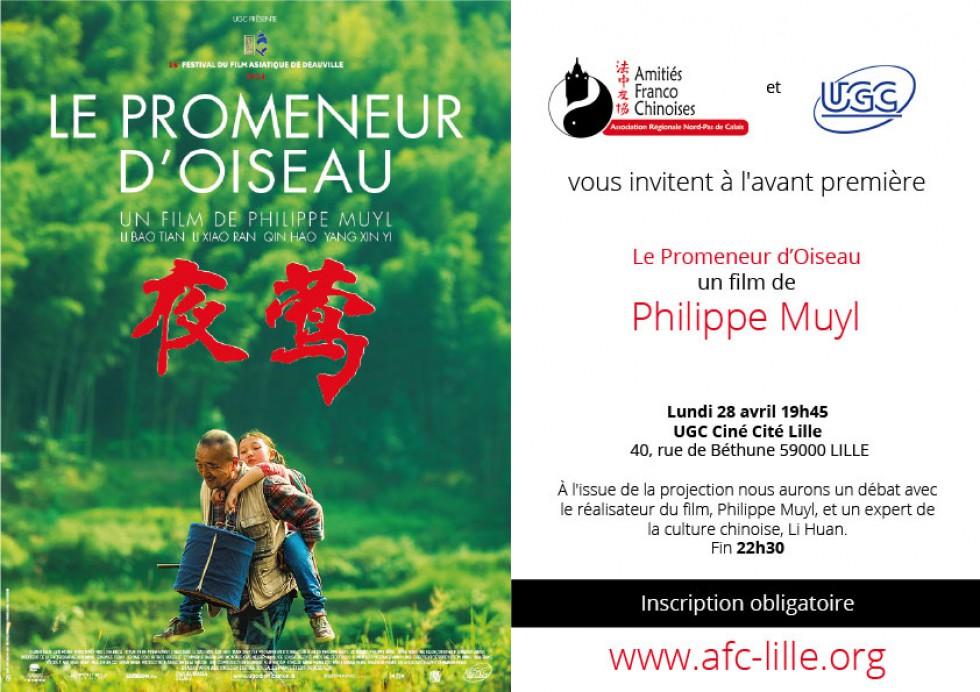 Avant Première à Lille «Le Promeneur d'Oiseau»
